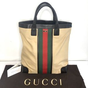 Authentic Gucci large tote mustard color